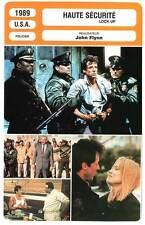 FICHE CINEMA : HAUTE SECURITE - Stallone,Sutherland,Sizemore 1989 Lock Up