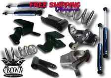 Crown Suspension 99-06 Sierra 4/4 Lowering Kit Spindle Coil Shackle Hanger Shock