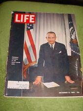 LIFE MAGAZINE DEC 13 1963 THE BEATLES LYNDON B JOHNSON