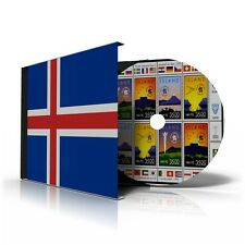 ICELAND STAMP ALBUM PAGES CD 1873-2011 (159 color illustrated pages)