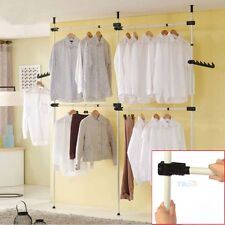 Heavy Duty Steel Clothes Coat Dress Rail Garment Hanger Hooks Stand Rack 60KG UK