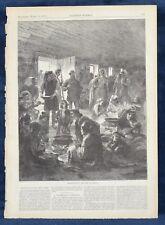 Herzegovina. Refugees At Ragusa. Large Antique Engraving. 1876