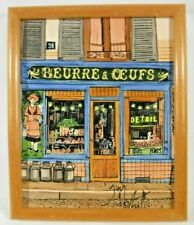 Michel Guy Nochet Signed Painting Paris Oil On Canvas Wood Framed 8.25 x 10.25