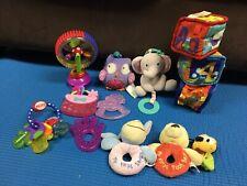 Baby Girl Developmental Toy Lot Soft Taggie Blocks Teethers Rattles Disney +