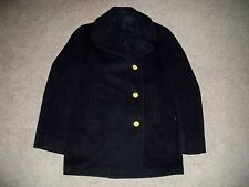 Vtg US Navy Vietnam Nam Men's Pea Coat Wool Stencil Military PeaCoat Jacket 36