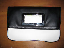 Nine West purse handbag black and white sac clutch