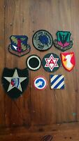 Collection Of US Army & Airforce Patches inc 2nd inf indian head WWII- 1980's