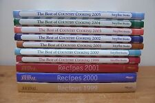 (AD 54) 10 LOT TASTE OF HOME THE BEST OF COUNTRY COOKING ANNUAL & LADIES JOURNAL