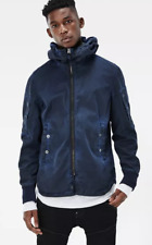 G Star Batt Hooded Overshirt Coat Jacket Blue Size Small *REF71*