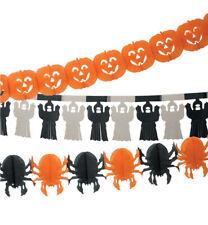 Girlanden-Set Halloween Dekoration in orange-schwarz Kürbis Geist 123411513F