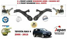 FOR TOYOTA RAV 4 2006-> 2X FRONT SUSPENSION WISHBONE CONTROL ARM + 2X BALL JOINT