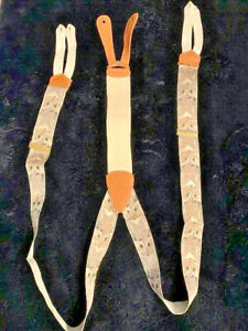 RARE TRAFALGAR SILK  SUSPENDERS BY CALVIN CURTIS W/ WISE OLD OWL LIMITED EDITION
