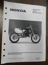 Vintage Honda Factory Set-Up Instructions Manual 1998 CR125R 7859-9709