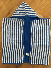 Green Sprouts Organic Cotton Hooded Bath Beach Towel Blue Striped O-4 Years