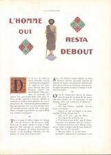 ▬► CLIPPING L'homme qui resta debout Paul WENZ LÉON CARRÉ 4 pages