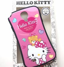 For Samsung Galaxy S4 - HARD TPU RUBBER CASE COVER PINK HELLO KITTY TEDDY BEAR