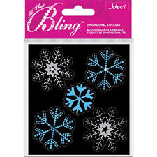 Snowflakes Bling Winter Snow Christmas GORGEOUS Jolee's 3D Stickers
