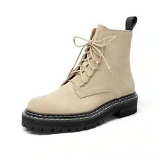 Wool Snow Women Genuine Leather Round Toe Lace-Up P Winter Boots Hand Made Suede