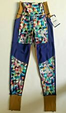 New WITHOUT WALLS Womens Yoga Active Leggings Run Gym Tights sz S Free Ship