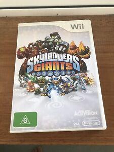 Skylanders Giants, Nintendo Wii, Complete, gd cond, Aussie Stock