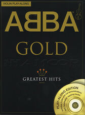 ABBA GOLD GREATEST HITS VIOLINO play-along Spartiti Musicali LIBRO con 2CDs