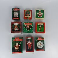 Vintage 80s 90s Hallmark Holiday Christmas Tree Decoration Ornaments Set of 9