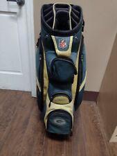 Wilson Green Bay Packers 14 Divider Golf Cart Bag Green/Yellow w Raincover