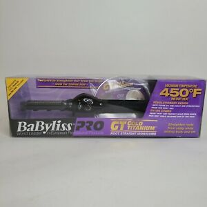 BaByliss PRO GT Gold Titanium 450F - Root Straight Iron/Comb Straightener w/ DVD