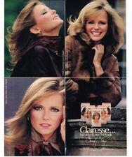 1981 Cheryl Tiegs Clairol Clarisse Hair Color Wash Vintage Print Ad