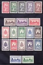 More details for cambodia 1954 sg31/50 set of 20 inscribed royaume du cambodge superb u/m. c£95