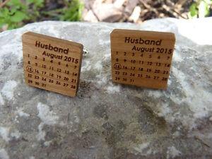 Groom Personalised Wedding Cufflinks: Husband