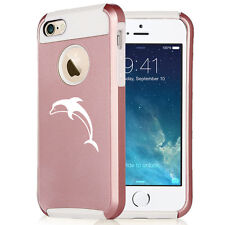 For iPhone SE 5 5s 6 6s 7 Plus Rose Gold Shockproof Hard Soft Case Cover Dolphin