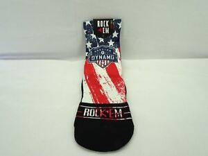Houston Dynamo Club and Country Socks Red White Blue S/M 6-8.5 T3