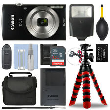 Canon IXUS 185 / ELPH 180 Digital Camera Black + 32GB Deluxe Accessory Package