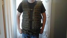 NcStar Larger Pals Modular Vest OD Green with M14 dual mag pouch and dump pouch