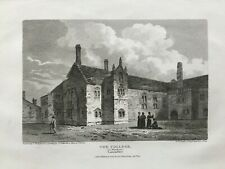 1807 Antique Print; Chetham's College / Library, Manchester after J.C. Smith