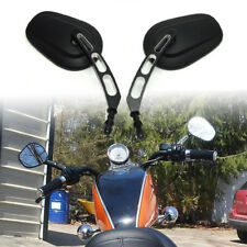 Black Rear View Side Mirrors For Indian Roadmaster Springfield Scout Model Bike