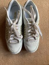Brand New Womens Red Or Dead Vintage White And Gold Shoes Trainers UK 5 EUR 38