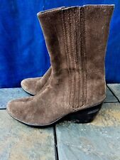 COLE HAAN Leather Wedges High Heels Suede Tread Soles BOOTS Womens Shoes Sz 6.5
