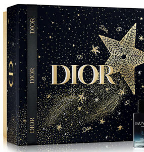 BRAND NEW CHRISTIAN DIOR LARGE BLACK AND GOLD STAR GIFT BOX