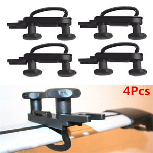 4Pcs Stainless Universal Car Roof Top Box Mounting Kit U-Bolts Clamp Fittings