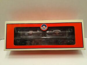LIONEL TRAINS HALLOWEEN THEMED GRAVE'S MORTUARY TANK CAR #6-36151 IN THE BOX