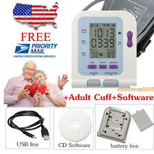 FDA US Seller Digital Upper Arm Blood Pressure Monitor+Adult BP cuff+PC software