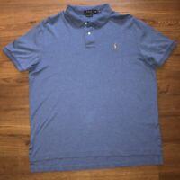 Polo Ralph Lauren Mens Pima Soft Touch Blue Polo XL