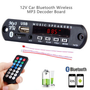 12V 4.2 Car MP3 Bluetooth  WMA/WAV Decoder Board Audio Module USB SD FM TF Radio