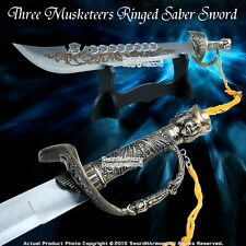 9 Rings Fearless Fantasy Kung Fu Chinese Broad Sword Musketeers Saber w/ Stand