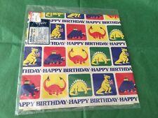 Vintage unopened Dinosaur Happy Birthday  gift wrap