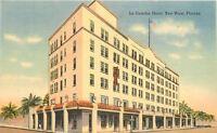 1940s La Concha Hotel roadside Key West Florida linen Tichnor postcard 6292
