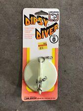 Vintage Luhr Jensen FIRE ORANGE Directional Trolling Sinker Dipsy Diver Size 1