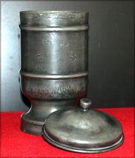 ETAIN, Pot couvert en étain 86% marqué JG couronne royale